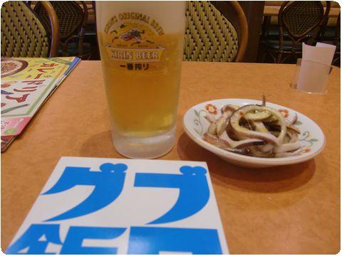 ビールとブログ飯