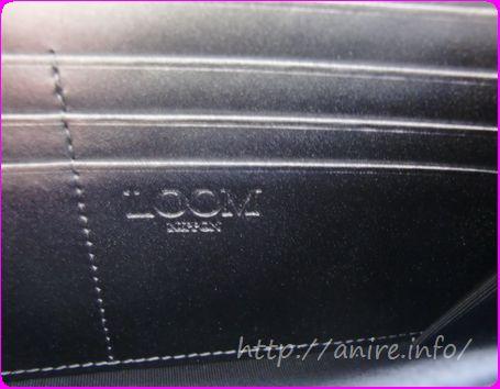 LOOMアストロテック財布のロゴ