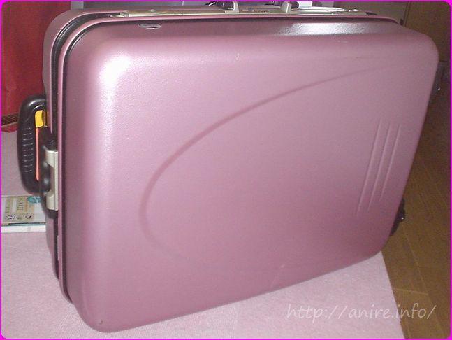 マイレンタルのスーツケースピンク