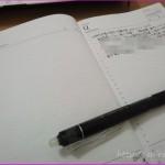一日1ページの手帳に空白ができた時にメモ帳として使う時の工夫