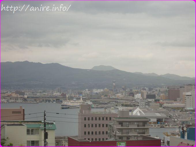 函館元町から見る駒ヶ岳