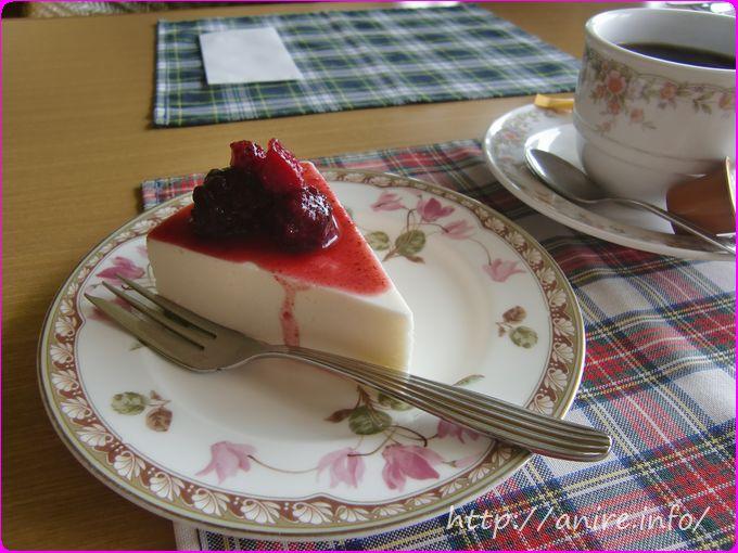 クリフサイドケーキセットレアチーズケーキ
