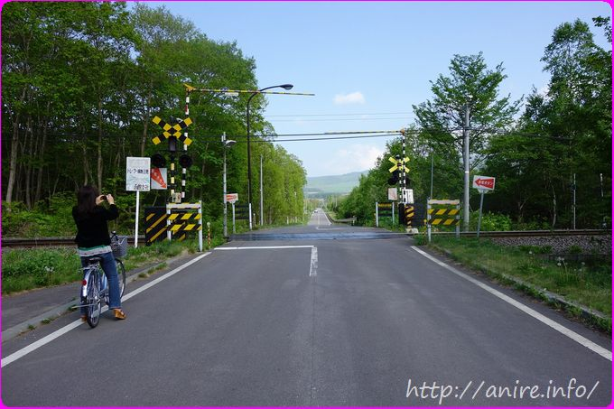 北海道の延々続く道