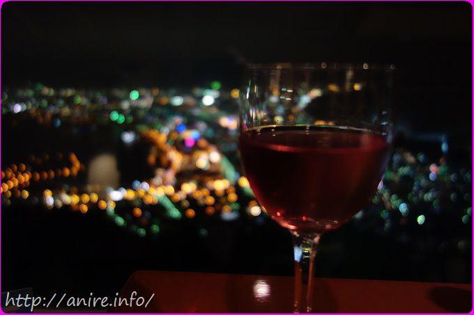 函館夜景とワイン