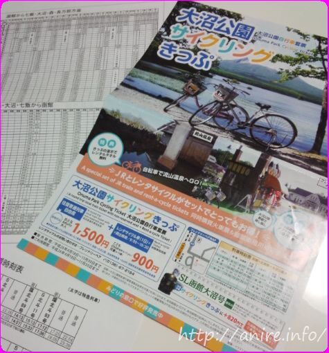 大沼公園サイクリング切符