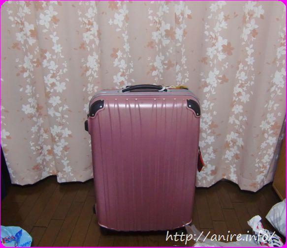 ククレンタルピンクスーツケース