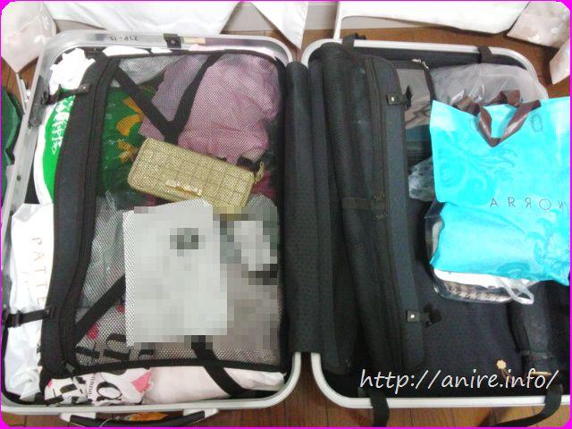 スーツケース2人10日間分Lサイズ