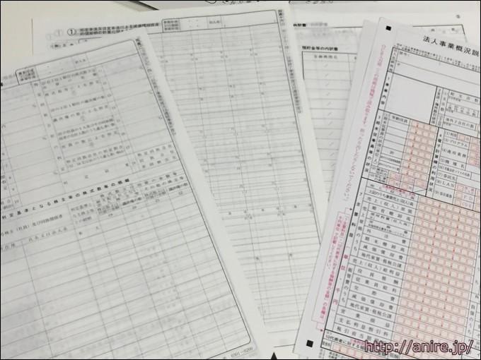 法人税決算書類