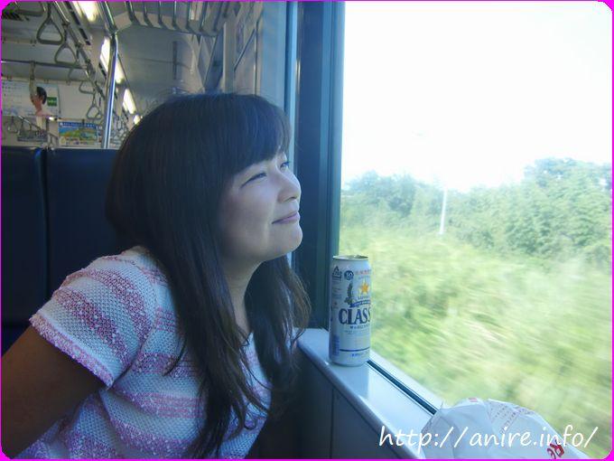 東海道線でビール