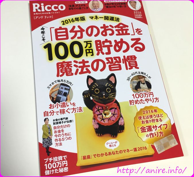 andRicco2016年マネー開運雑誌中身