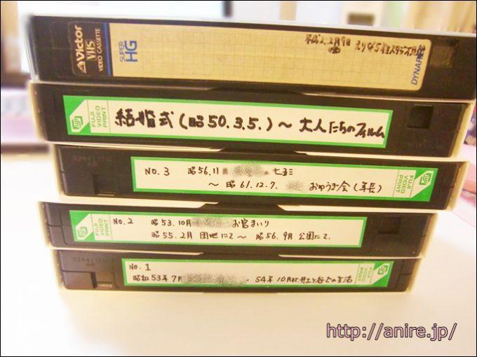 ビデオテープをDVD